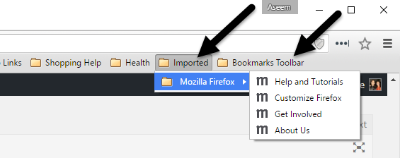 Transfer Bookmarks from Firefox to Chrome