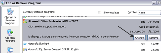 ms office 2007 sp1 update