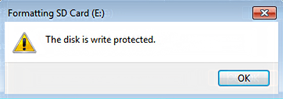 write protected