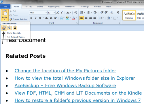 How to Customize Word's Paste Function