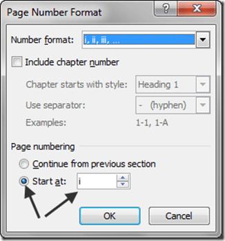 Roman Numberal Numbering