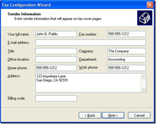 Fax Configuration