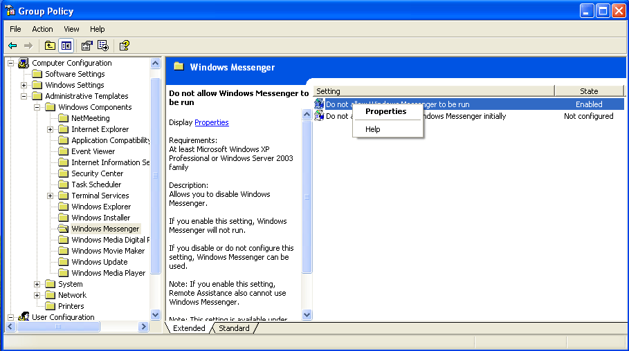 Remove Windows Messenger from Windows 7, Vista, and XP