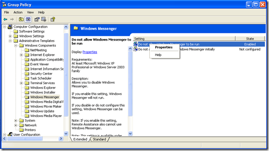 Windows XP Professional Group Policy