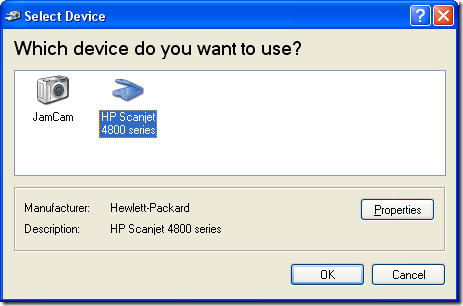 Choose Scanner