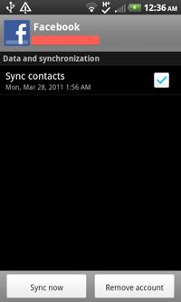 5 Sync Facebook