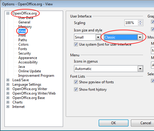 Make OpenOffice Writer Look and Function More Like Microsoft