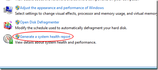 Generate a System Health Report