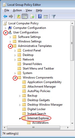 do not allow users of internet explorer to enable or disable add