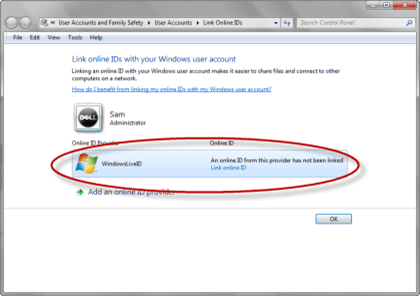 Link onlinie ID's with Windows user account