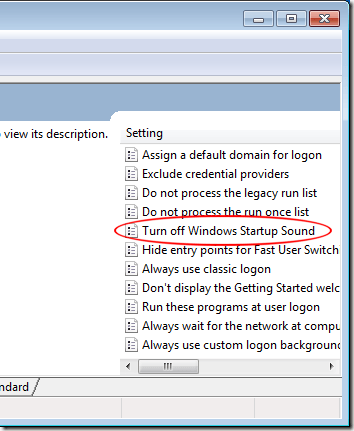 Turn Off Windows Startup Sound for All Users of Windows 7