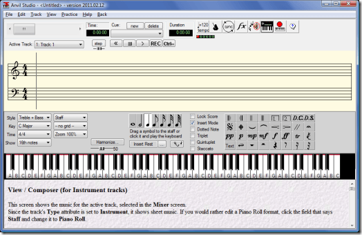Anvil Studio MIDI Creation Software