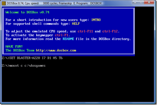 Run Old DOS Games and Programs in Windows XP, Vista, 7/8/10