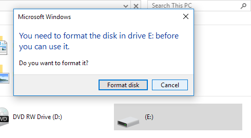 format disk windows