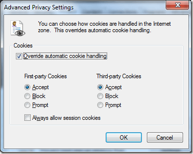 Advanced Privacy Settings