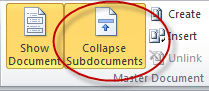 Collapse Subdocuments