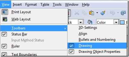 Drawing Toolbar