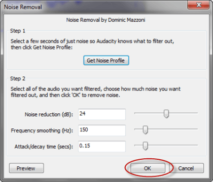 Finish Noise Reduction