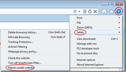 IE9 Safety Features