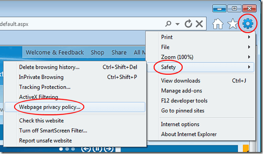 Internet Explorer 9 Privacy Policy