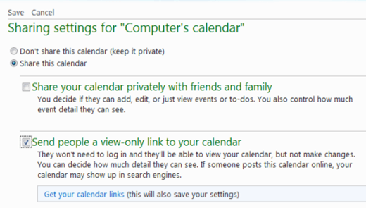 sharewindowslivecalendar