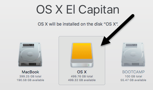install to disk