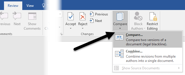 How to Use Compare & Combine Documents in Word