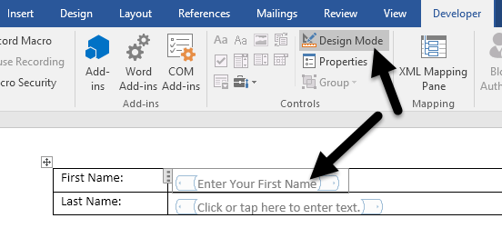 how to add a checkbox in microsoft word 2013
