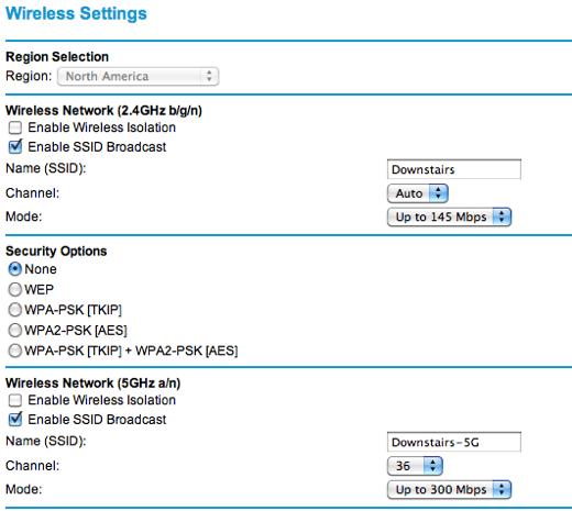 neatgear wireless settings