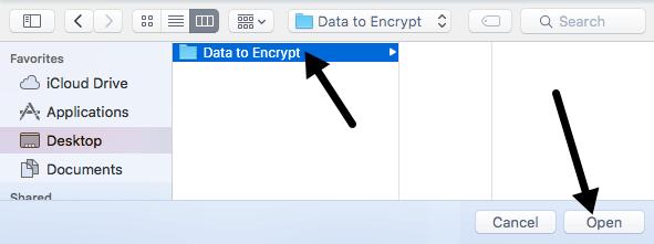 choose folder to encrypt