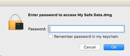 enter image password
