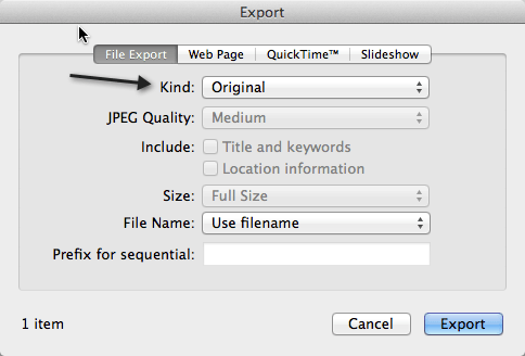 Simple Way to Export Videos from iPhoto on Mac