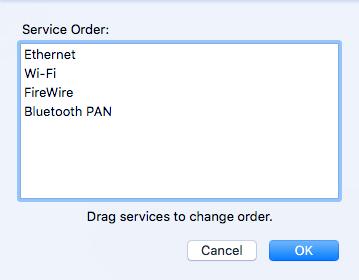 change service order