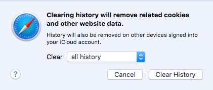 clear all history