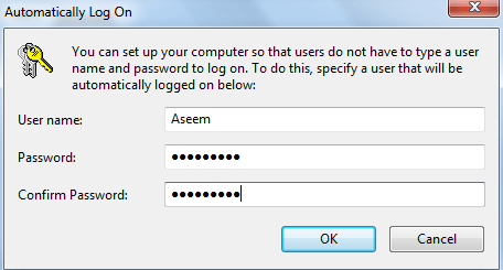 windows 8.1 auto login without password