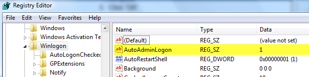 Configure Auto-Login for Windows 7 Domain or Workgroup PC