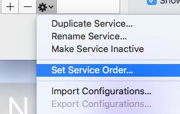 set service order