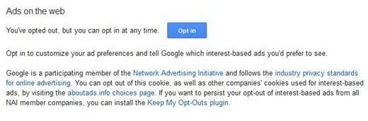 Google Ads Preferences