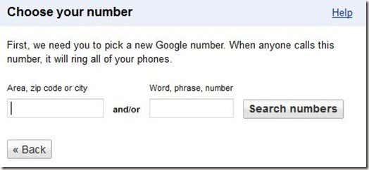 Choose Google Voice Number