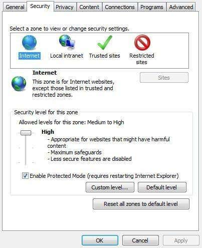 What is the best security option for internet