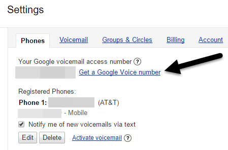 get google voice number