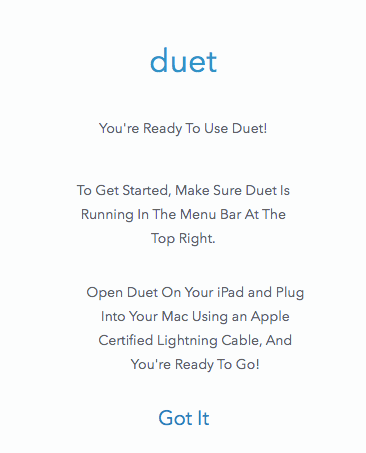 ready to use duet
