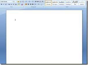 MS Word Blank