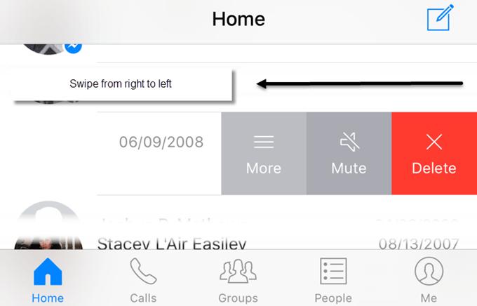 delete message messenger app