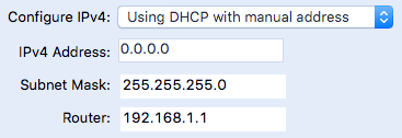 dhcp with manual address