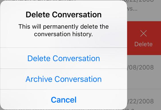 messenger delete archive