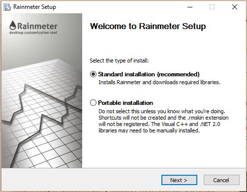 rainmeter install
