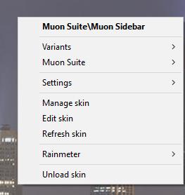 rainmeter skin settings
