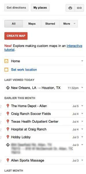 google maps history