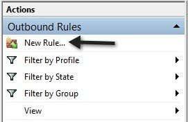 new firewall rule